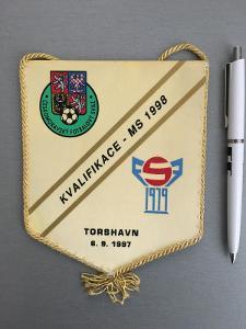 Vlajka kvalifikační zápas MS 1998 FAERSKÉ O. - ČR Torshaven 6.9.1997