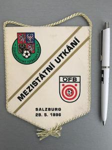 Vlajka přátelský zápas RAKOUSKO - ČR, Salzburg 29. 5. 1996