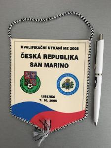 Vlajka kvalifikační zápas ME 2008 ČR - SAN MARINO, Liberec 7.10.2006