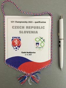 Vlajka kvalifikační zápas ME 2023 U21 ČR -SLOVINSKO, Č.Buděj. 2.9.2021