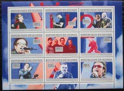 Guinea 2010 U2, hudební skupina Mi# 7419-27 Kat 18€ 2544