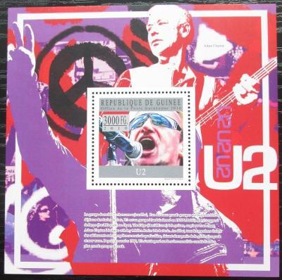 Guinea 2010 U2, hudební skupina Mi# Block 1813 Kat 10€ 2544