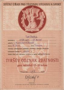 Tyršův odznak zdatnosti_Praha_Pecha Jiří_Havlíčkův Brod_3695