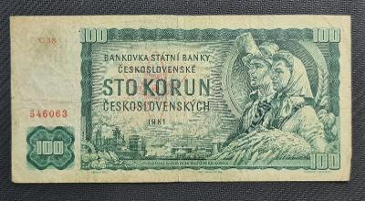 100 Kčs 1961, Vzácná Série C 38 !!!