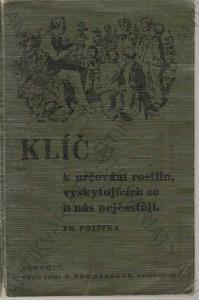 Klíč k určování rostlin...  F. Polívka 1938
