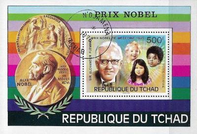 Čad 1976, nositel Nobelovy ceny Alexandr Fleming