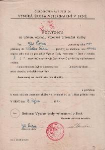 Potvrzení odkladu vojenské služby_Brno_Pecha Jiří_Havlíčkův Brod_3696