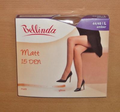 Silonky punčocháče Bellinda Matt 15 SADA 8ks