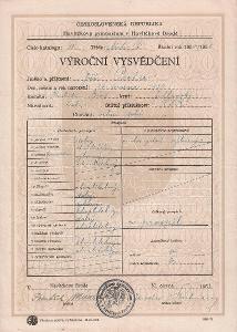 Školní vysvědčení_Havlíčkův Brod_Pecha Jiří_Havlíčkův Brod_3701