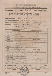 Školní vysvědčení_Havlíčkův Brod_Pecha Jiří_Havlíčkův Brod_3702