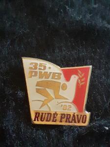 Odznak 35. Ročník PWB ZÁVOD MÍRU 1982 RUDÉ PRÁVO