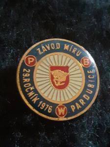 Odznak 29.ROČNÍK ZÁVOD MÍRU PWB 1976 PARDUBICE