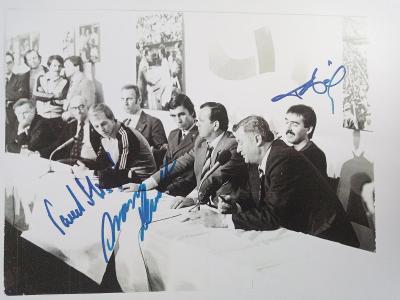 Autogramy... Lendl Složil a Šmíd ... rok 1980 ( A4 )