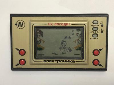 Stará sovětská kapesní elektronická hra JEN POČKEJ z roku 1988 funkční