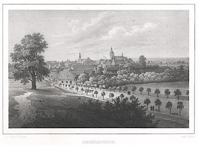 Přelouč N/L,  Semmler, litografie, 1845