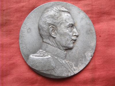 veliká kovová medajle - WILHELM II z roku 1914