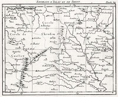 Jihlava a Brno, mědiryt, (1860)