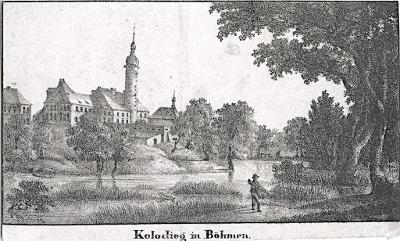 Koloděje, podle Venuta,  litografie, (1830)