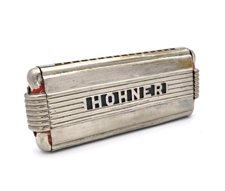 Velká foukací harmonika Hohner - Starožitnosti
