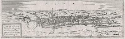 Cheb, Braun Hogenberg, mědiryt 1617