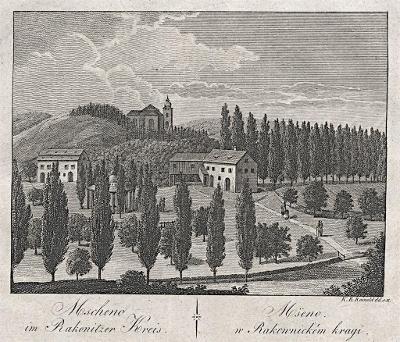 Mšeno , Hyllos, mědiryt , 1820