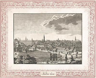 Kutná Hora ,  mědiryt, (1830)