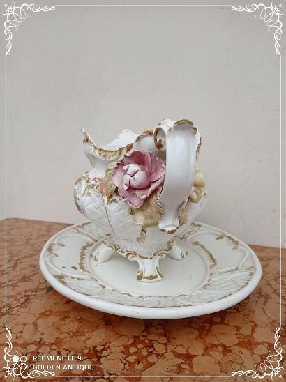 *** Nádherná porcelánová malovaná mísa - žardeniéra -  omáčník *** - Porcelán