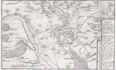 Olomouc bitva 1758, mědiryt 1786