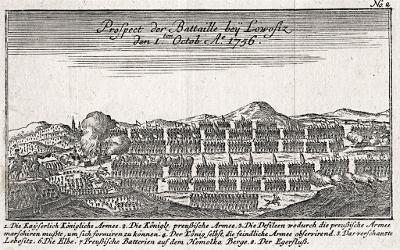 Lovosice bitva 1757,Ben Jochai, mědiryt 1758