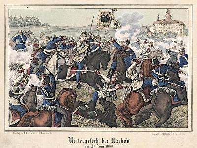 Náchod bitva, Oeser, Litografie, 1870