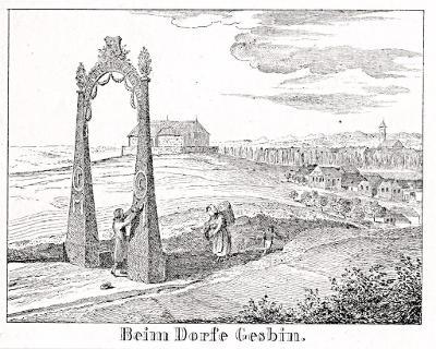 Jaroměř Jesbiny, Glasser, litografie, 1836