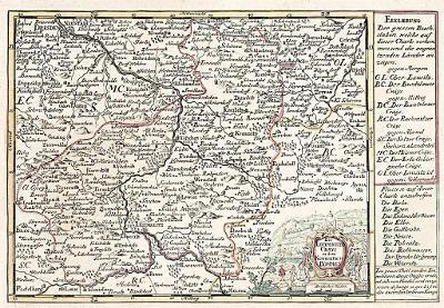 Schreiber : Litoměřický, kolor. mědiryt, 1740