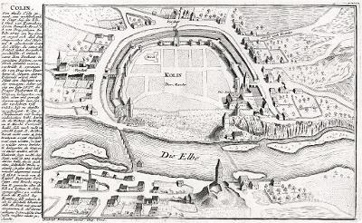 Kolín, Bodenehr, mědiryt, 1700