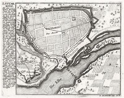 Litoměřice, Bodenehr, mědiryt, 1700