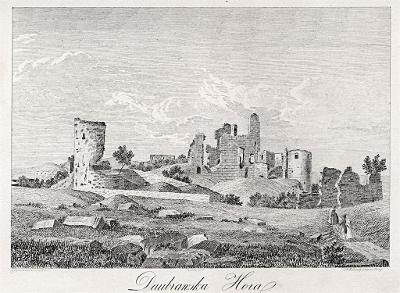 Doubravská Hora, Heber, litografie, 1843