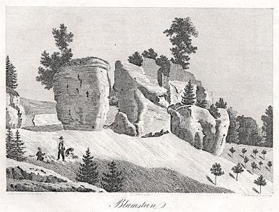 Kvítkov, Heber, litografie, 1845