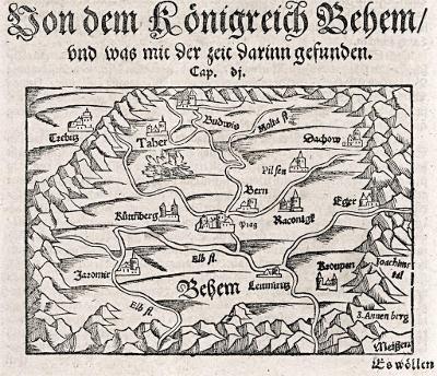 Münster S.: Behemer, dřevořez , 16 stol