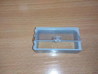 Lego díl 60599 - prosklené dveře, šedý rám