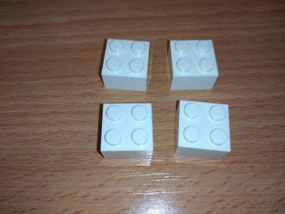 Lego díl 3003 - 4x kostka bílá