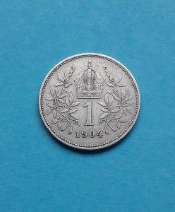 1 koruna 1904  FJI -Vzácnější ! od1Kč !