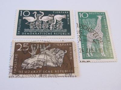 Známky DDR 1965, 10 let Zooparku Východní Berlín