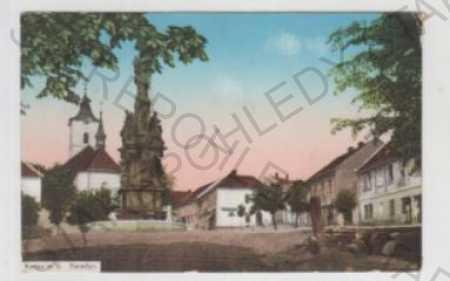 Kutná Hora, Kácov nad Sázavou, náměstí, socha, kol