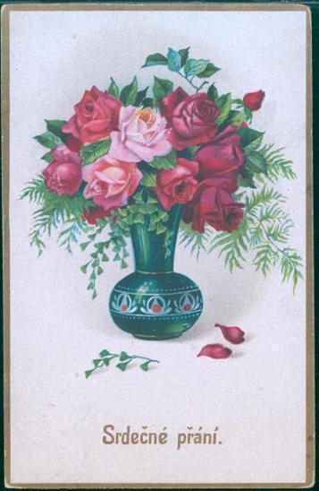 25A384 Srdečné přání - motiv růže