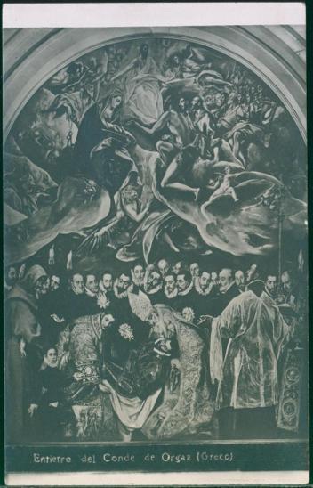 31A61 Toledo Pohřeb hraběte Orgaze - obraz