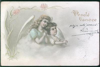 25A281 Umělecké pohlednice/ Veselé vánoce
