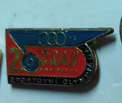 P55 Odznak ČSAD KNV Praha  sportovní olympiáda  1ks