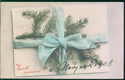25A360  Malovaná pohlednice - veselé vánoce