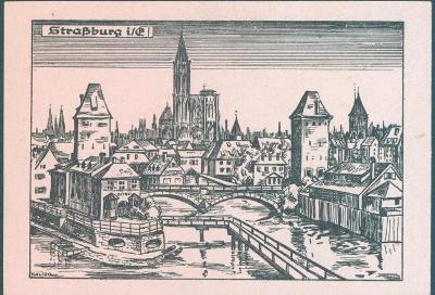 14B3 Německo- Strasburg, polní pošta II. světová válka, neprošlé