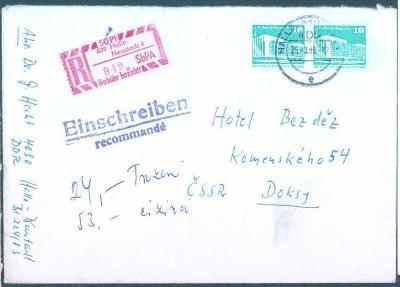 17B344 R dopis Halle - Neustadt do Doks