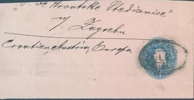 20B8 USA celinový dopis do Záhřebu / Zagreb